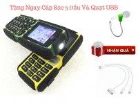 Điện thoại Land Rover A8+ siêu bền, Sạc pin cho máy khác + Tặng Kèm Quạt USB Và Cáp Sác 3 Đầu - MSN388280