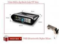 Cảm biến áp suất lốp TP-800 Cảnh báo áp suất và nhiệt độ lốp + Tặng Kèm USB Bluetooth- MSN181310