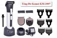 Tông đơ cắt tóc Đa Năng Kemei 3007 Tặng 2 lưỡi đồng 2 pin sạc, tiện dụng, an toàn - MSN383186