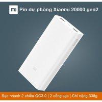 Pin sạc dự phòng Xiaomi 20.000 mAh Xiaomi Power Bank 2C Mẫu Mới 2017 - MSN181314