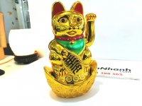 Mèo Thần Tài Vẩy Khách Chạy Pin Kích Thước 20x8x6 cm - MSN1831070