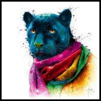 Tranh Trang Trí Treo Tường Rainbow Black Panther Kích Thước 30x30 cm - MSN1831076