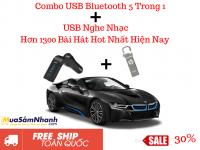 Combo USB 1300 Bài Hát Và USB Bluetooth 5 in 1 Cho Xe Hơi - MSN388330