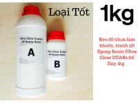 Keo đổ nhựa làm khuôn, tranh 3D Epoxy Resin Ultra Clear DTAB2 Đổ Dày 1kg - MSN388340