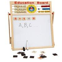 Bảng Gỗ Từ 2 Mặt Education Board Và Bộ Chữ Số Cho Bé Kích thước 46.5x38 cm - MSN1831095