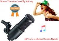 Micro Thu Âm Live Stream AK-69 Chống Ồn Lọc, Hút Âm Cực Tốt