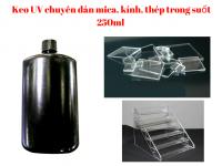 Keo UV chuyên dán mica, kính, thép trong suốt 250ml - MSN388354