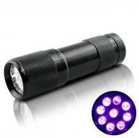 Đèn UV Led 9 bóng 3W Sấy Keo UV, Soi Tiền - UV9