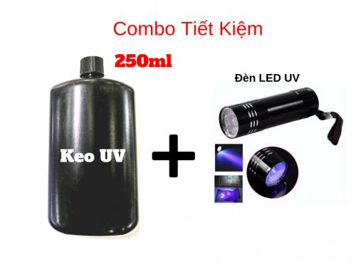 Combo Keo UV Dán Kính 250ml Kèm Đèn Sấy Keo UV - MSN388387