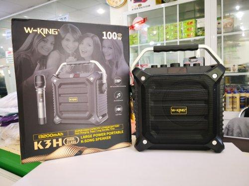 Loa Kéo Bluetooth W-King K3H 100W Mới 2019 + Tặng Kèm Mic