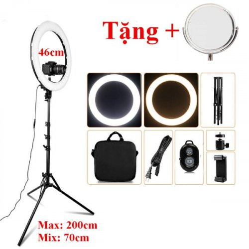Đèn Livestream Lớn , Chụp Hình Sản Phẩm, Makeup, Studio RL-18 46CM