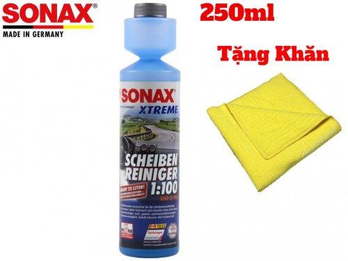 Dung Dich Vệ Sinh Làm Trong Kính Lái Sonax Xtreme Clear View NanoPro 271141 250ml Tặng Khăn