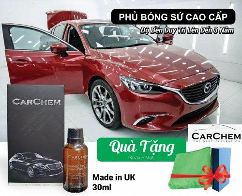Dung Dịch Phủ Sứ Nano Bóng Sơn Chống Trầy Xe CARCHEM CERAMIC PRO 10H