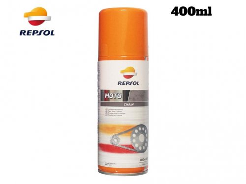 Chai xịt bảo dưỡng bôi trơn sên xe Repsol Moto Chain Lube 400ml - MSN388357