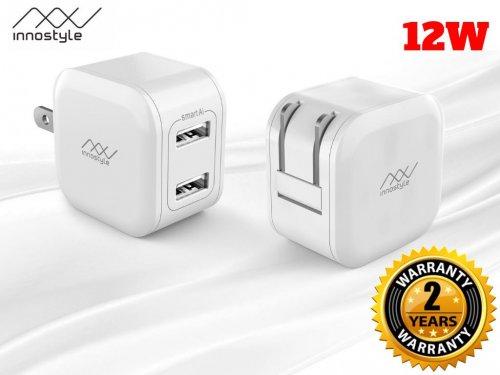 Sạc INNOSTYLE MINIGO 2 USB A 12W SMART AI CHARGING Chính Hãng