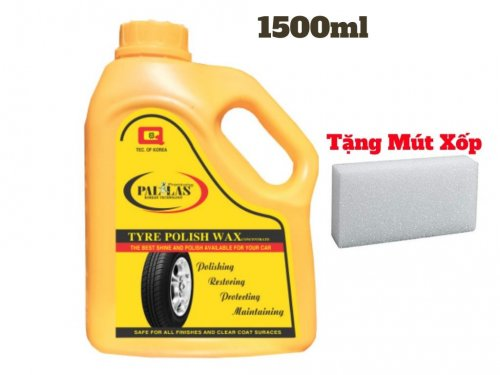 Dung Dịch Đánh Bóng Vỏ Xe, Đánh Bóng Lốp Xe Pallas 1.5 Lít Tặng Mút - PWP15