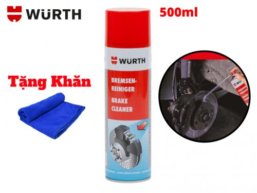 Dung Dịch Vệ Sinh Thắng Xe Wurth Brake Cleaner 500ml Tặng khăn - W0890