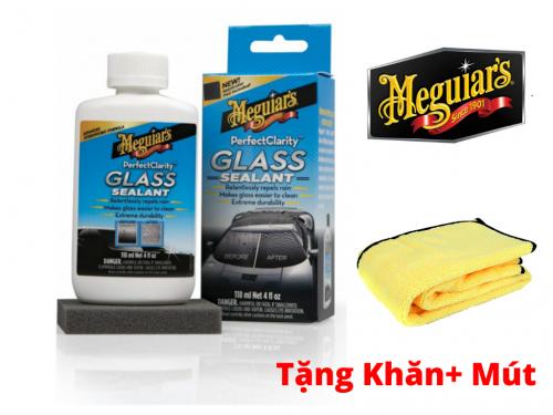 Meguiar's Xịt Lớp Phủ Bảo Vệ Kính Xe Tạo Hiệu Ứng Lá Sen Perfect Clarity Glass Sealant G8504 Tặng Khăn