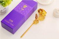 Hoa hồng 3D mạ vàng đẹp tinh xảo - MSN383086
