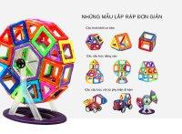 Miếng ghép nam châm MAGBO (bộ đầy đủ) - Đồ chơi phát triển trí tuệ cho bé - MSN388083