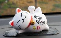 Tượng Mèo Nằm Vảy Tay May Mắn, Loại Lớn Kích thước 8x11 cm - MSN1831052