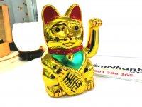 Mèo Thần Tài Biểu Tượng May Mắn Và Tài Lộc Kích Thước 15x8x7 cm - MSN1831070