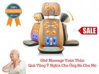 Ghế Massage 6D Hồng Ngoại Toàn Thân Đa Năng Deluxe Massage Cushion - MSN388328