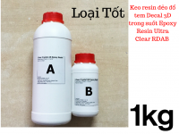 Keo resin dẻo đổ tem Decal 3D trong suốt Epoxy Resin Ultra Clear RDAB 1kg - MSN388342