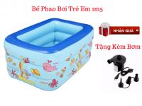 Bể Phao Bơi Chữ Nhật 3 Tầng 1m5 + Tặng Kèm Bơm - MSN1831097