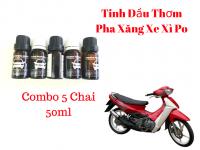 Combo 05 Chai Tinh Dầu Thơm Xăng Xe Máy 4 thì và 2 thì 50ml - MSN388372