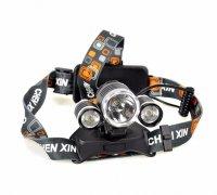 Đèn Pin Đội Đầu 3 Bóng Siêu Sáng Cree XM-L2 T6