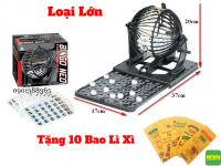 Bộ Đồ Chơi Lô Tô Bingo Neo Lồng Sắt Cao Cấp Loại Lớn - MSN1831124