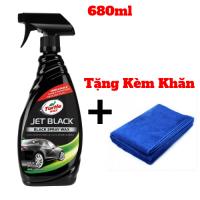 Chai Xịt Bóng Nhanh Sơn Xe Đen Turtle Wax Jet Black 680ml + Tặng Kèm Khăn