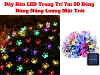 Đèn Led Flower Trang Trí 50 Bóng Năng Lượng Mặt Trời 7m