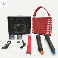 Loa Karaoke Xách Tay Mini M18 Kèm 2 Mic Tặng 2 Đèn Chiếu Sao