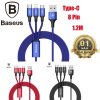 Cáp Sạc 3 Trong 1 BASEUS SU13 Lightning, TYPE-C Và Micro USB
