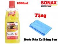 Nước Rửa Xe Và Wax Bóng Sơn Kết Hợp Sonax Wash & Wax 313341 1000ml tặng khăn
