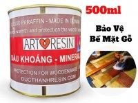 Dầu Khoáng Mineral Oil Xử Lý Bảo Vệ Gỗ - Dầu Parafin Trắng 500g - MSN388337