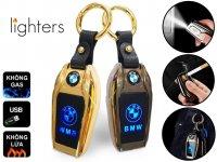 Bật Lửa Hồng Ngoại Sạc Điện Móc Khóa USB Lighter BMW