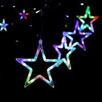 Bộ Dây Đèn Led 12 Sao Nhiều Màu Trang Trí Lễ Tết Noel