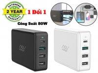 Sạc Đa Cổng Macbook Innostyle GoMAX Pro 80W (USB-C PD 61W + USB-A Smart AI