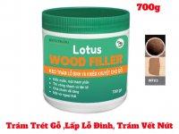 Keo Trám Trét Gỗ, Lấp Lỗ Đinh, Trám Vết Nứt Lotus Wood Filler 700g