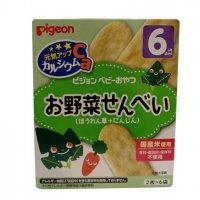 Bánh Ăn Dặm Pigeon Nhật Cho Bé Từ 6 Tháng Vị Rau Bina Cà Rốt 6T - MSN181449RC
