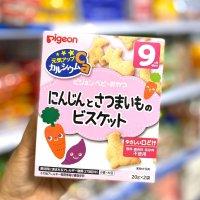 Bánh Ăn Dặm Pigeon Nhật Cho Bé Từ 6 Tháng Vị Cà Rốt Khoai Lang 9T - MSN181449CK