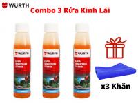 Combo 3 Dung Dịch Pha Rửa Kính Đậm Đặc Wurth 32ml Tặng 3 Khăn