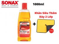 Combo Nước Rửa Xe Sonax Kèm Khăn Lau Chuyên Dụng 2 Lớp 1000ml