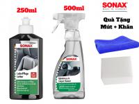 Combo Vệ Sinh Nội Thất Xe, Dưỡng Ghế Da SONAX Leather Care Interior cleaner Kèm Quà