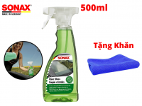 Nước Làm Sạch Trong Kính, Sonax Clear glass 338241 500ml Tặng Khăn