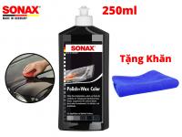 Kem Đánh Bóng Bảo Vệ Sơn Xe Đen Sonax Polish Wax 250ml 296141 Tặng Khăn