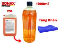 Nước Rửa Xe Sonax Gloss Shampoo 314300 1000ml Đậm Đặc Chiết Từ Bình 25l Tặng Khăn